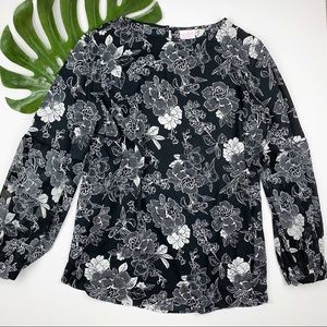 Isabel Maternity Blouse Top Floral Lightweight 2XL